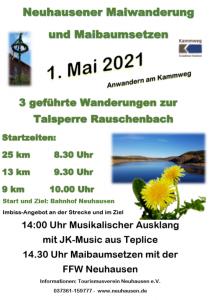 Neuhausener Maiwanderungen mit Maibaumsetzen @ Affalterbacher Platz