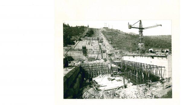 Bau Staumauer Rauschenbach