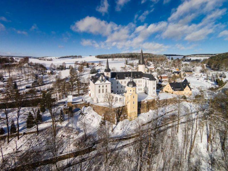 Schloss Purschenstein im Winter